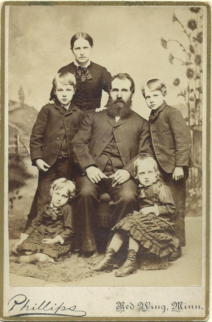 Gustafva, PO, Lawrence, Sigfred Ida, Hanna 1884