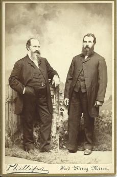 Peter Tilderquist and his brother Lars Olsson from Australia in 1884
