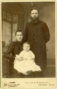 Anna and G.A. Anderson with their first child, Angelika, in1890