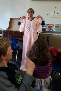 The kids liked the pink dress from the 40s best