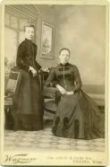 Ida and Emma in Tacoma around 1888