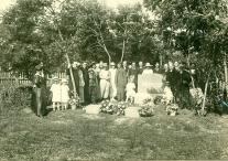 The dedication of the Anderson tombstone at Pleasant Ridge Cemetery 1917