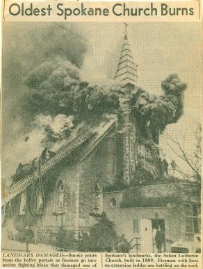 The church burned down in 1949.