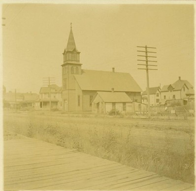 Salem Lutheran Church, Spokane. The pastor's family lived one block away at 1905 W. Mallon Ave.