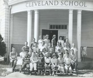 5th grade at Cleveland School. I'm 4th from the left in the second row.